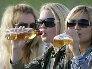 Употребление пива женщинами