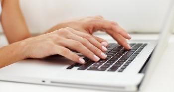 Печать на клавиатуре вслепую
